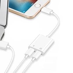 2 in 1 Lightning Adapter for iPhone X 8/8/7/7 Plus. Phone Ac