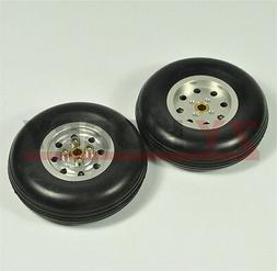 1 pair 3inch solid rubber wheels tires