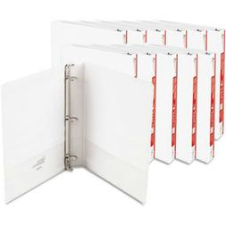 12 Pack Economy View 3 Ring Binders Round Ring 1 inch White