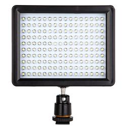160 LED Video Light Lamp Panel 12W 1280LM Dimmable for Canon