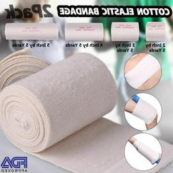 2 3 4 6'' inch Cotton Elastic Bandage Compression Tape Hook