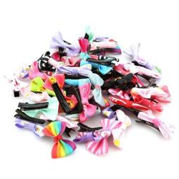 20/50 pcs Hair Bows With Clip 3 inch Grosgrain Ribbon Hairpi