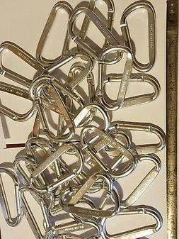 """20 Carabiners. 3"""" Inch Anodized Silver Color. Spring Shut Ga"""