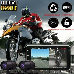 3-inch 1080P HD Dual Camera Motorcycle DVR Dash Cam Driving
