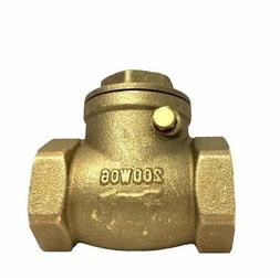 Libra Supply 3 inch, 3'', 3-inch Brass Swing IPS Threaded Ch