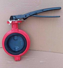 """3"""" Inch Butterfly Valve Wafer Ductile Iron Body Nylon Disc B"""