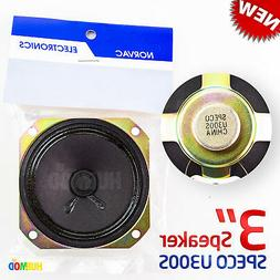 "3"" Inch Diameter SPECO 8 Ohm 8Ω Mini Audio Speaker U300S NE"