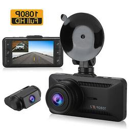 3 inch Dual 1080P Car Dash Cam Front and Rear Camera Night V