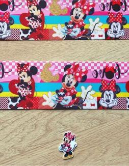 "3"" Inch Grosgrain  Printed Ribbon With 1 Resin Flat back"
