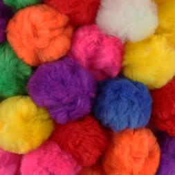 3 Inch Multi Color Large Craft Pom Poms 12 Pieces
