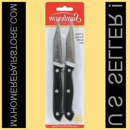 SUNBEAM 3 INCH PARING KNIVES —2 KNIFE SET—RIVETED HANDLE