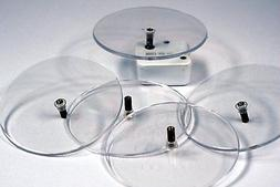3 Inch Round Clear Plastic Turntable for Wind Up Music Boxes