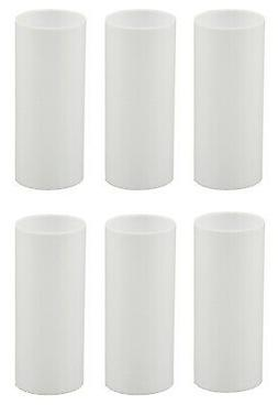 3 Inch White Plastic Candle Cover For Candelabra Base Lamp S