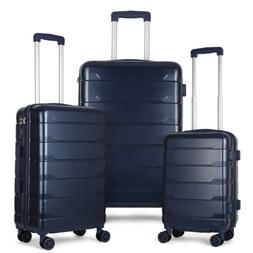 3 piece luggage cases pc abs spinner