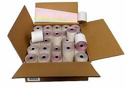 "3-ply 3"" inch 65' Feet  White/Canary/Pink Kitchen Paper 100"