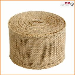 "Laribbons 3"" Wide Burlap Fabric Craft Ribbon On Spool 10 Yar"