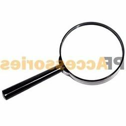 """4"""" inch Large Handheld Magnifying Glass 3X Power REAL Glass"""