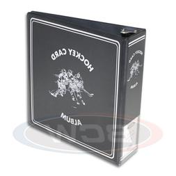 6 BCW 3 Inch Black Hockey Card Collector D-Ring Binders Albu