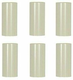 6 Pack 3 Inch Cream Plastic Candle Cover For Candelabra Base