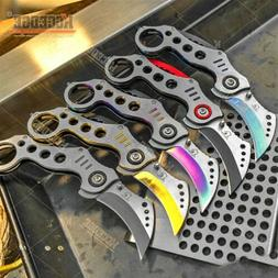 7.25 Inch Karambit Tactical Folding Knife With 3 Inch Blade