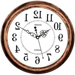 Adalene 13 Inch Large Non Ticking Silent Wall Clock Decorati
