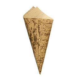 "BambooMN 6.7"" x 3"" Premium Bamboo Leaf Cone, All Natural and"