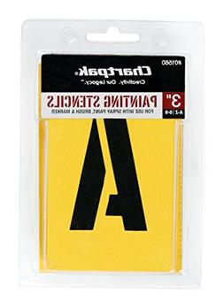 Chartpak Letter and Number Painting Stencils, A-Z and 0-9, 3
