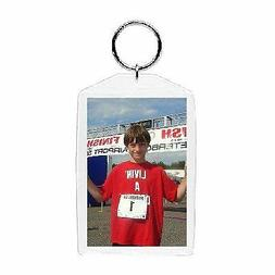 Plastic Photo Snap-in Key Chain - 2x3""