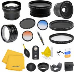 58MM Professional Accessory Kit for CANON EOS REBEL  - Inclu