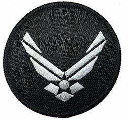 AIR FORCE LOGO EMBROIDERED 3 INCH MILITARY HOOK PATCH
