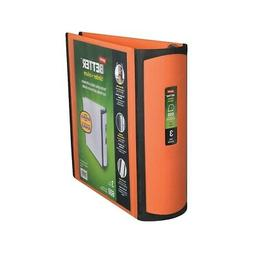 Staples Better View 3-Inch Slant D 3-Ring Binder Orange  728