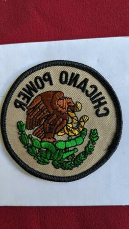 Chicano power Patch iron on embroidery for hats and jacket e