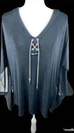 chicos travelers size 3 top, Black, Arm Pit To Arm Pit 24 In