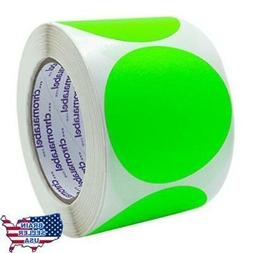 ChromaLabel 3 inch Color-Code Dot Labels | 500/Roll , New