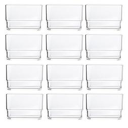 "Clear Plastic Desk Drawer Organizers 3"" x 3"" x 2"" l Set of 1"