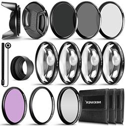 Neewer 52MM Complete Lens Filter Accessory Kit for Lenses wi