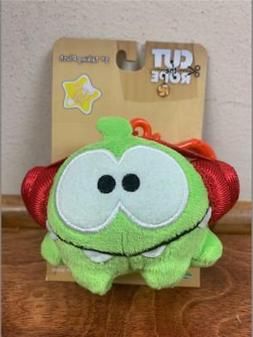 "CUT THE ROPE OM NOM ""Headphone"" 3 INCH PLUSH TOY W/ CLIP & S"