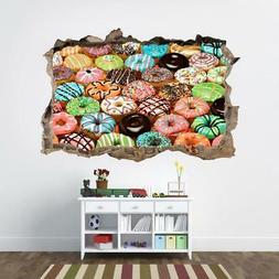Donuts 3D Smashed Wall Sticker Decal Kitchen Home Decor Art