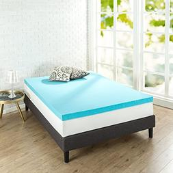Zinus 3 Inch Gel Memory Foam, King Mattress Topper
