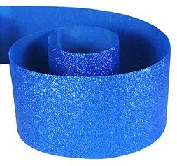 Glitter Ribbon for Cheer Bows,Blue Ribbon for Crafts -HipGir