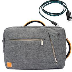 Gray VanGoddy 3 In 1 New Briefcase Messenger Backpack Should