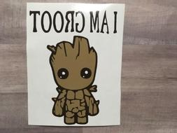Groot Decal Multi Color Approx. 3inchx3inch