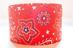 "GROSGRAIN RED BANDANNA 3"" INCH PRINTED GROSGRAIN RIBBON 1, 3"