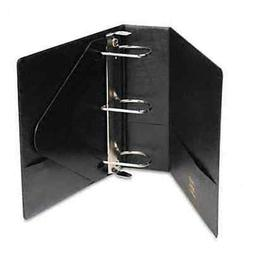 Heavy-Duty 3-Inch Black D-Ring Binder with Label Holder