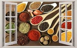 herbs and spices kitchen food 3d window