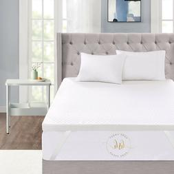 """Home Sweet Home 3"""" Inch Memory Foam Mattress Topper With Rem"""
