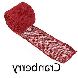 "BambooMN 3"" Inch wide Color Burlap Fabric Craft Ribbon Roll"