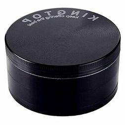 KINGTOP Herb Spice Grinder Large 3.0 Inch Black New Freeship