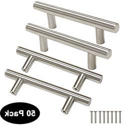 3 in Kitchen Cabinet Pulls 1/2 in Stainless Steel T Bar Door