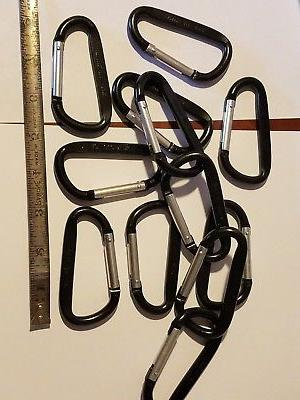 12 carabiners 3 inch anodized black color